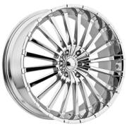 Panther 911 Spline Chrome Wheels