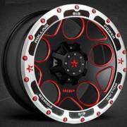 RBP 85R Voltage Black and Red with Beadlock Ring