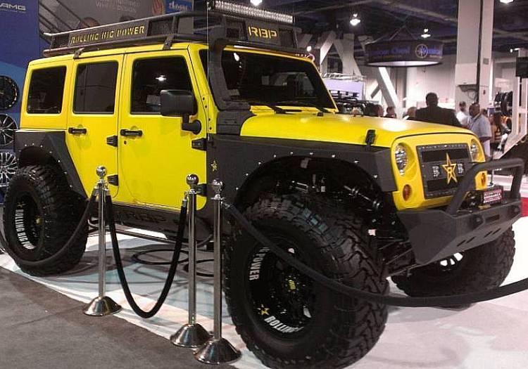 Rolling Big Power Wheels on Jeep Wrangler