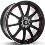 Redline RD-134 Gloss Black with Red Stripe