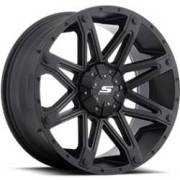 SenDel S35 Recon-8 Matte Black Wheels