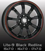 Speedy Lite-9 Black w/Red Line