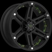 Tuff All Terrain T-01 FlatBlack w/Green Inserts