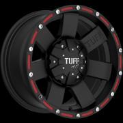 Tuff All Terrain T-02 Flat Black w/Red Inserts