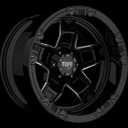 Tuff All Terrain T-10 Gloss Black Milled 12