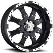 Ultra Wheels 224 Goliath Matte Black Diamond Cut