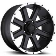 Ultra Wheels Crusher 195 Semi-Gloss Black Machined