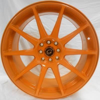 White Diamond 0051 Orange Wheels