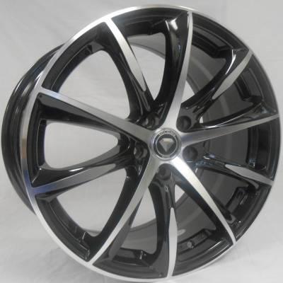 White Diamond 1026 Black Machined Wheels
