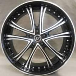 White Diamond 179 Black Silver Accents