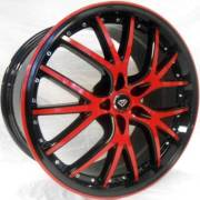 White Diamond 530 Black Red Accents