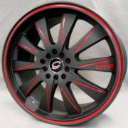 White Diamond 975 Black Red Accents
