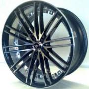 White Diamond 2-PC R3246 Black Machined Wheels