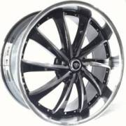 White Diamond 0016 Black Polished Wheels