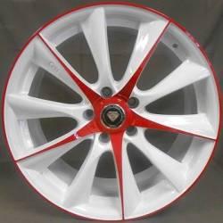 White Diamond 0019 White and Red Wheels