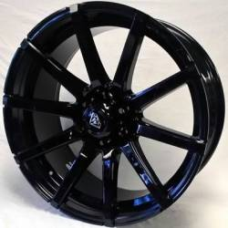 White Diamond 0036 Gloss Black Wheels