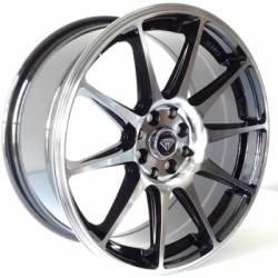 White Diamond WD-0051 Machined Black Wheels