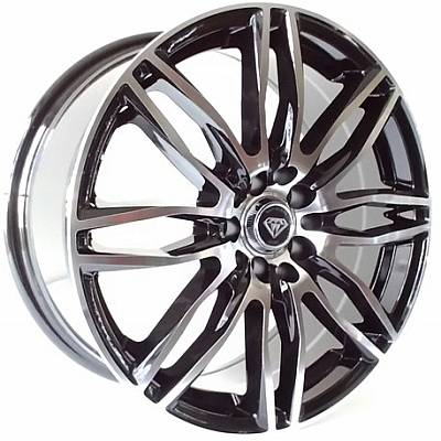 17x7.5 White Diamond 1017 Machine Black 8-Lug