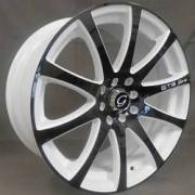 White Diamond 3114 Black and White Wheels