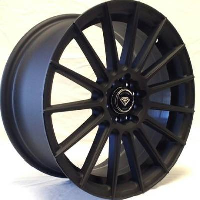 White Diamond 3173 Matte Black Wheels
