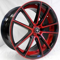 White Diamond 3197 Black Red