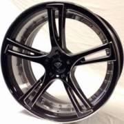 White Diamond 3247 Black Machine Wheels