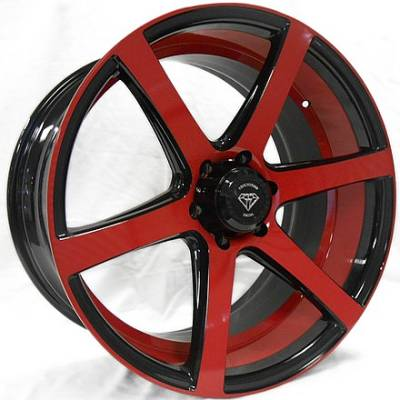 White Diamond 3717 Black Red