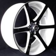 White Diamond 3717 Black and White Wheels
