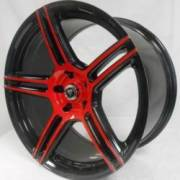 White Diamond 5086 Red and Black