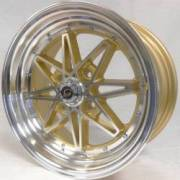White Diamond 8008 Machine Gold Wheels