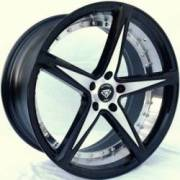 White Diamond R3248<br>Machine Black Wheels