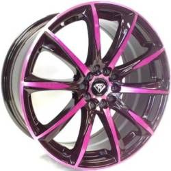 White Diamond W1026 Pink and Black Wheels