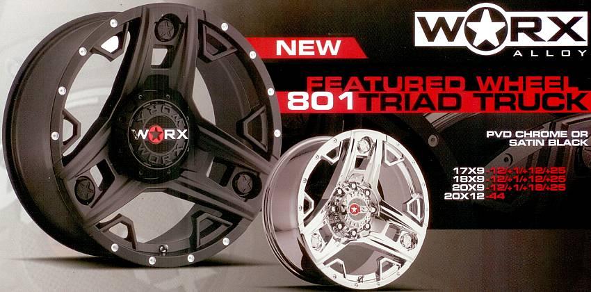 Worx 801Triad Truck Wheels